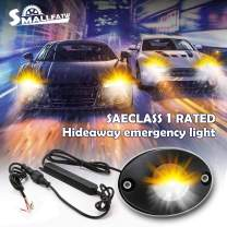 SMALLFATW Led Hideaway Strobe Lights for Police Fire Construction Vehicle Trucks Cars Waterproof Upgrade Flash Emergency Warning Lights - White Yellow