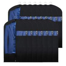 """Syeeiex Suit Bags for Closet 14-Pack 40"""" Breathable Dustproof Clothes Storage Covers with Clear Window for Dress Suit Tuxedo Carrier"""