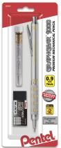 Pentel GraphGear 1000 Automatic Drafting Pencil (0.9mm), with Eraser Refills, 1-Pk (PG1019EBP)
