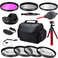 Commander Optics Photo Essential Starter Kit for 49MM Canon DSLR Cameras Canon EOS M50, M100, M200, M6, M5 w/15-45mm Lens
