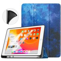 """TiMOVO Case fit New iPad 7th Generation 10.2"""" 2019 with Pencil Holder, [Light Weight] Slim Back Protective Case with Auto Wake/Sleep, Smart Case Fit iPad 10.2-inch Retina Display - Blue Sky Star"""