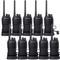 Retevis RT21 Two-Way Radios Rechargeable Long Range Walkie Talkies Hand Free 16CH Business 2 Way Radios, Wall Charger Base, 1100mAh Battery (10 Pack)