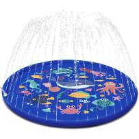 FUN LITTLE TOYS Sea Animal Inflatable Splash Sprinkler Pad for Kids, 66'' Water Toy for Summer Outdoor Swimming Pool, 2-12 Year Old Boys & Girls Toys