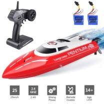 Remote Control Boat, Longruner RC Boats for Kids & Adults 2.4Ghz 25km/H High Speed Remote Control Racing Boat for Pool Lakes, Best Gift Toys for Kids Adults Birthday Christmas LKS1