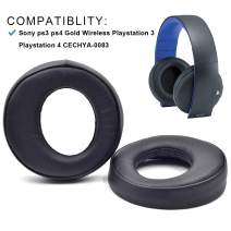 Replacement Cushion Ear Pads Earmuff earpads Cup Cover Pillow for Sony ps3 ps4 Gold Wireless Playstation 3 Playstation 4 CECHYA-0083 Stereo 7.1 Virtual Surround Headphone Headset