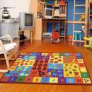 "Furnish My Place 740 ABC With Numbers 6'6""x9'2"" ABC Area Rug for Kids, Educational Alphabet Letter & Numbers, Anti-Skid Rubber Backing, Multicolor"