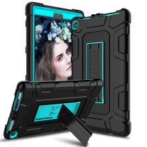 Venoro Case for All-New Amazon Fire HD 8 Tablet, Kindle Fire 8 Case Cover with Kickstand Compatible with Fire HD 8 Tablet (7th 8th Generation, 2017 2018 Release) (Black/Blue)