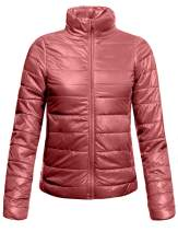NE PEOPLE Womens Lightweight Low Turtleneck Long Sleeve Outwear Quilted Packable Puffer Jackets