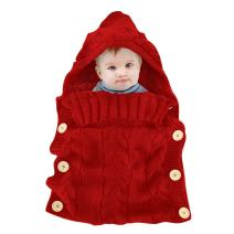 Colorful Newborn Baby Wrap Swaddle Blanket, Oenbopo Baby Kids Toddler Knit Blanket Swaddle Sleeping Bag Sleep Bag Stroller Wrap for 0-12 Month Baby (Red)