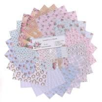"YARRUMI 24 Sheets Scrapbook Paper Pack,Designer Paper Pad Floral Singe-Side Patterned Paper 6"" Stamp Paper Pads Themed Valentine's Day Cardstock for Cardmaking,Holiday Decoration,Album Embellishment"