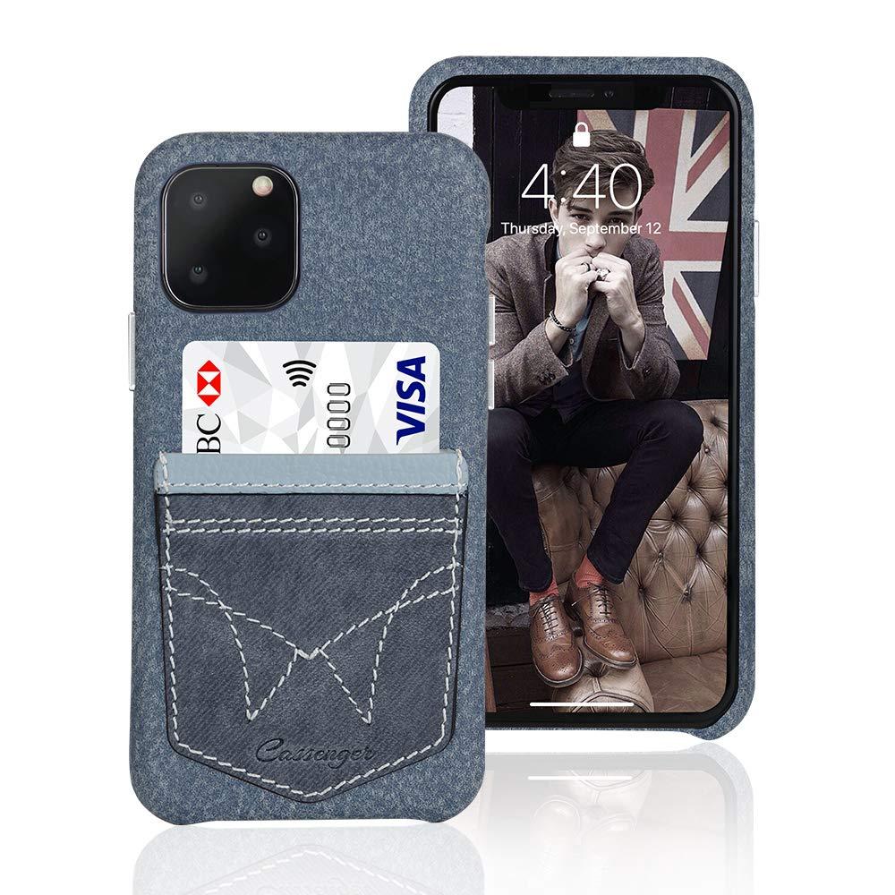 Cassenger [Jeans Pocket Series Leather Wallet Case for iPhone 11 Pro(2019 Release)-Jean