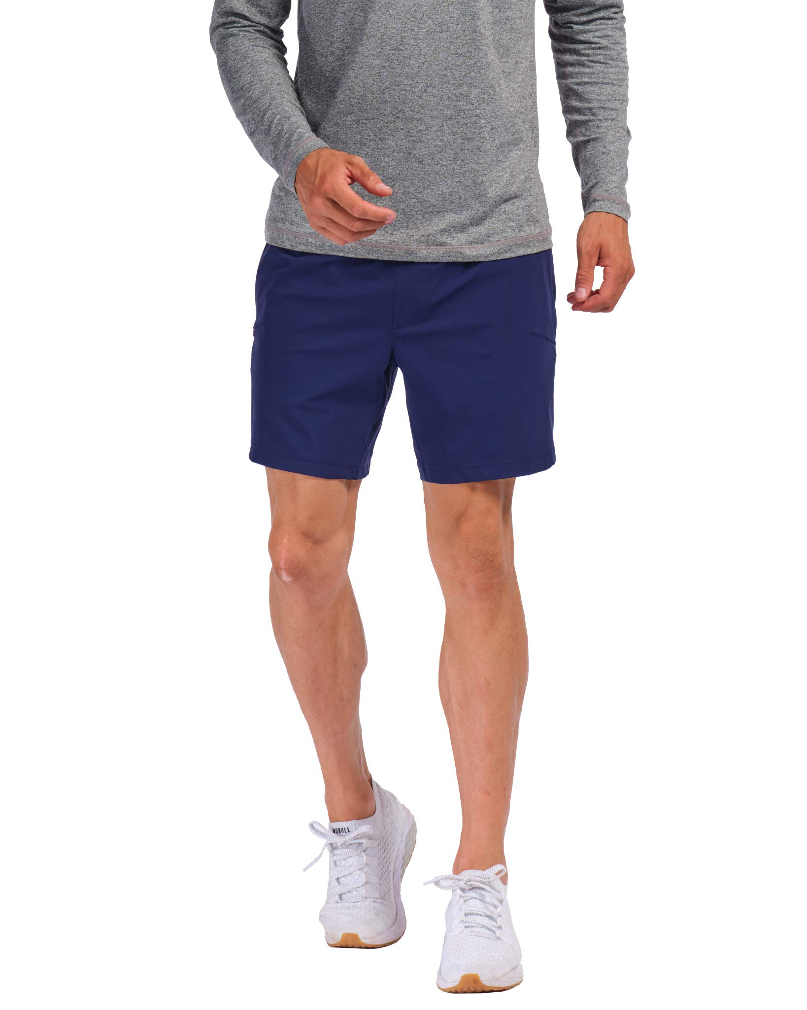"""Rhone 7"""" Versatility Short Lined Navy Large Quick-Drying Stretch Athletic Workout Performance Training Shorts"""