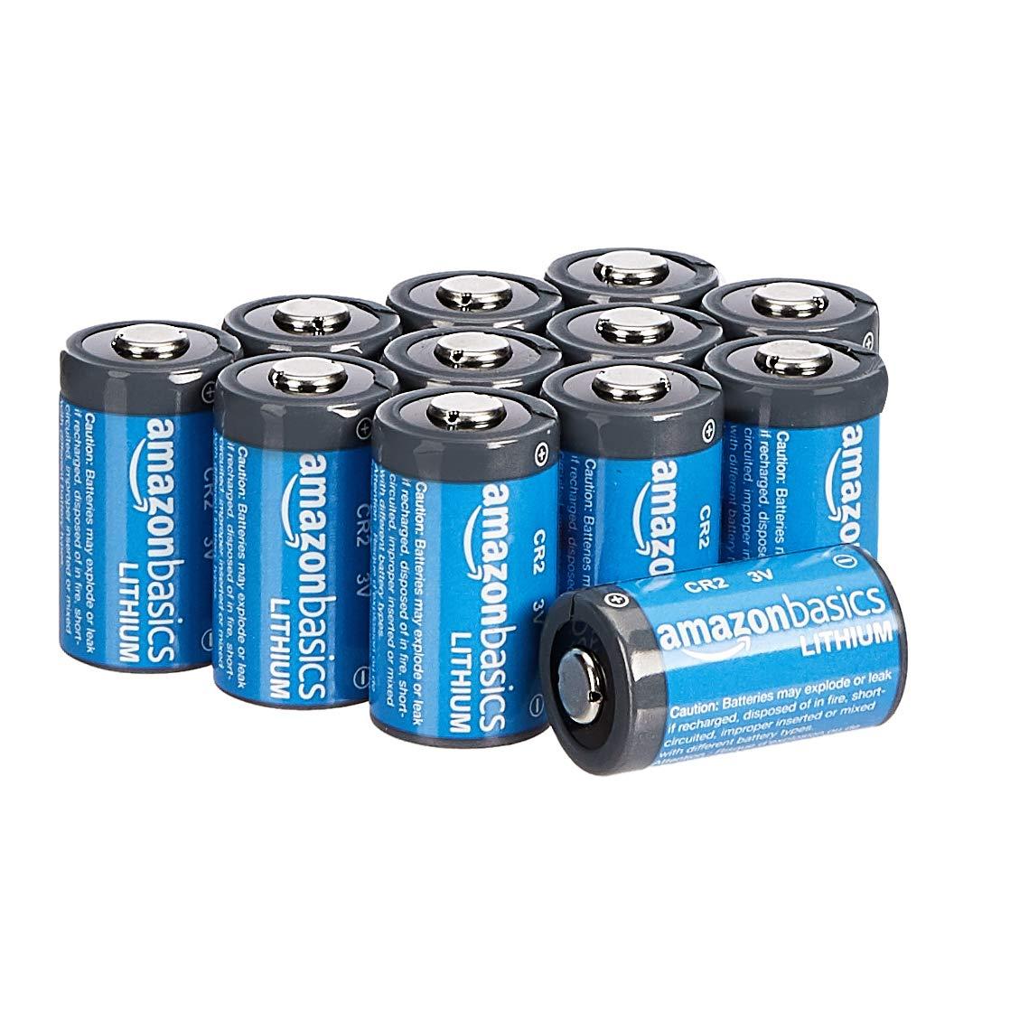 AmazonBasics Lithium CR2 3 Volt Batteries - Pack of 12