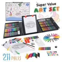 KIDDYCOLOR 211 Pcs Art Set for Kids Christmas Gift