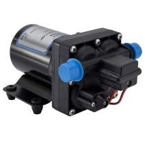 RecPro RV Water Pump | 12V Electric 4 Chamber Water Pump with Pressure and Bypass Switch | 45 PSI Max Draw 8.0AMP GPM/LPM 3.0/11.6 | Self Priming (No Strainer, No Silencer)