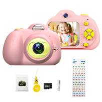 Kids Mini Digital Camera for Boys Girls Gift, Toddler Toy Camera 8.0MP HD Screen Camcorder with 8GB Mirco SD Card for Photo Selfie Vdieo (Pink)