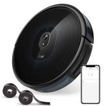 Dser Robot Vacuum, 2200Pa Robotic Vacuum Cleaner, Wi-Fi Connected, 2 Boundary Strips, Scheduling, App Control Multiple Cleaning Mode for Hard Floor, Carpets and Pet Hair (RoboGeek 23T)