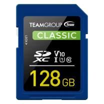 TEAMGROUP Classic 128GB UHS-I/U1 SDXC Memory Card U1 V10 Read Speed up to 80MB/s for Full-HD Video Recording & Photo Shooting TSDXC128GIV1001