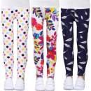 LUOUSE Girls Stretch Leggings Kids Soft Patterns Yoga Pants Ankle Length Multipack 4-13 Years