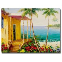 Key West Villa by Master's Art, 35x47-Inch Canvas Wall Art