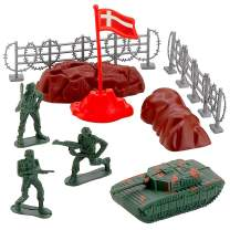 Kicko Army Playset Mix - 6 Pack Army Set - Simulation Toy Set - Plastic Army Toy - Mini Army Action Figures