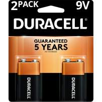 Duracell - CopperTop 9V Alkaline Batteries - long lasting, all-purpose 9 Volt battery for household and business - 2 count