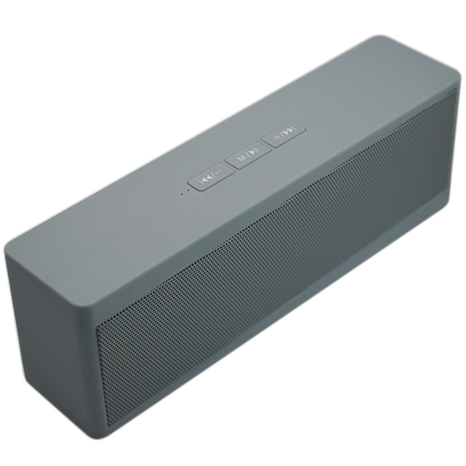 Wireless Bluetooth Speaker Portable with Mic Handsfree Calling Support MicroSD TF Card U Disk MP3 Playback for Mobile Phone PC Tablet (Grey)