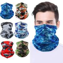 Bandana Face Mask Cooling Neck Gaiter Scarf Balaclava Dust Sun Protection Face Cover for Men Women Sport Outdoor