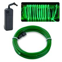 lychee EL Wire Neon Glowing Strobing Electroluminescent Light El Wire w/Battery Pack for Parties, Halloween Decoration (Jade Green, 9ft)