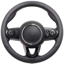 COFIT Breathable and Non Slip Microfiber Leather Steering Wheel Cover Universal S 14-14 2/5 Inch - Black