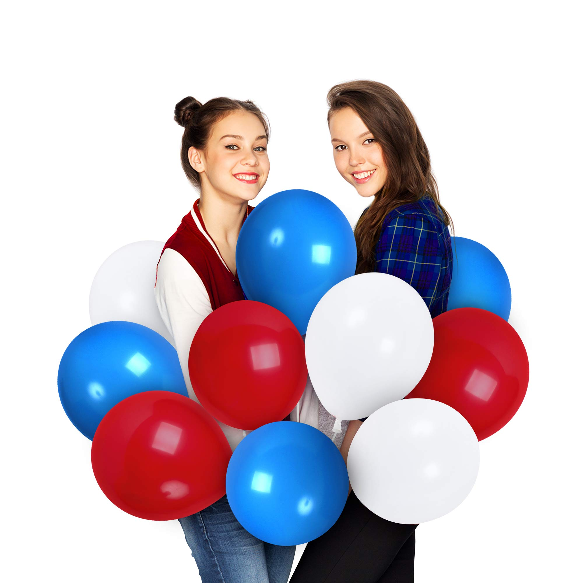 Treasures Gifted Red Balloon Dark Blue and White Balloons Garland 12 Inch Assorted Balloon Arch 4th of July Party Decorations for Superhero Birthday Baby Shower Party Baseball Party Decorations