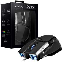 EVGA X17 Gaming Mouse, Wired, Black, Customizable, 16,000 DPI, 5 Profiles, 10 Buttons, Ergonomic 903-W1-17BK-KR