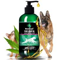 Best Paw Nutrition - [236,000mg Organic Hemp Oil for Dogs and Cats - Joint Pain Relief Arthritis Supplement - Natural Remedy for Stress & Separation Anxiety Relief - Calming Aid Pets Love - 8oz