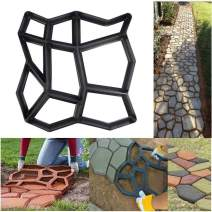 SuperThinker DIY Walk Maker Concrete Molds, Pathmate Stone Mold Paving Pavement Concrete Mould Stepping Stone Paver Walk Way for Garden, Patio, Yard(13''x13'')
