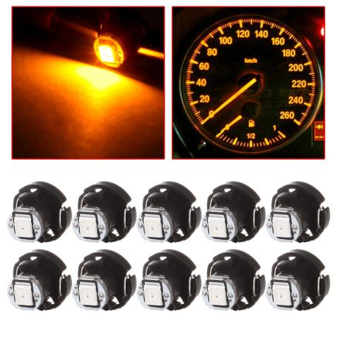 cciyu 4 Pack Yellow 3-3014SMD T4//T4.2 Neo Wedge HVAC Climate Control LED Light Bulbs Replacement fit for 1997-2007 Jeep TJ Cherokee Wrangler Liberty