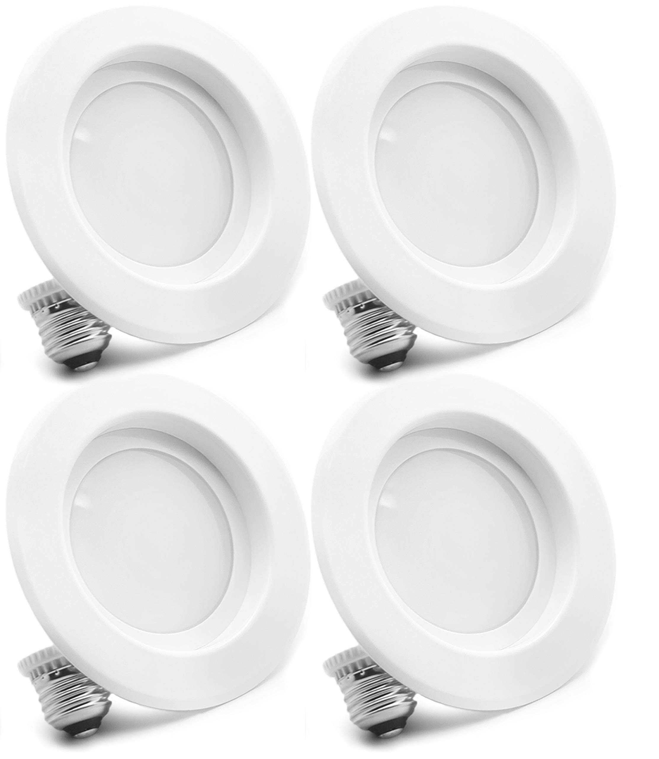 "4-Pack Bioluz LED 6"" BRIGHTEST RETROFIT (120 Watt Replacement) WARM WHITE UL-listed Dimmable Retrofit LED Recessed Lighting Fixture - 2700K Warm White LED Ceiling Light - 1200 Lumen Recessed Downlight"