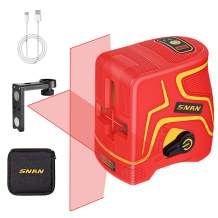 SNAN 98 Feet Laser Level Self-Leveling Horizontal and Vertical Cross-Line Laser, Three Modules with 2 Laser Heads, Pulse Mode, Magnetic Support and Carrying Pouch, 360° Rotating, IP54