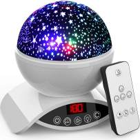 Star Projector Night Light for Kids - Baby Night Light Projector for Bedroom - with Timer Remote and Chargeable - Best Gift for Kids -White