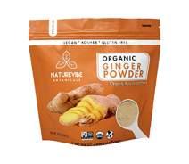 Naturevibe Botanicals Organic Ginger Root Powder (1lb), Zingiber officinale Roscoe | Non-GMO verified, Gluten Free and Kosher
