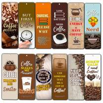 Creanoso Inspiring Inspirational Coffee Series III Bookmark Gifts (60-Pack) – Six Assorted Quality Bookmarks Bulk Set – Premium Gift for Men, Women, Adult, Seniors
