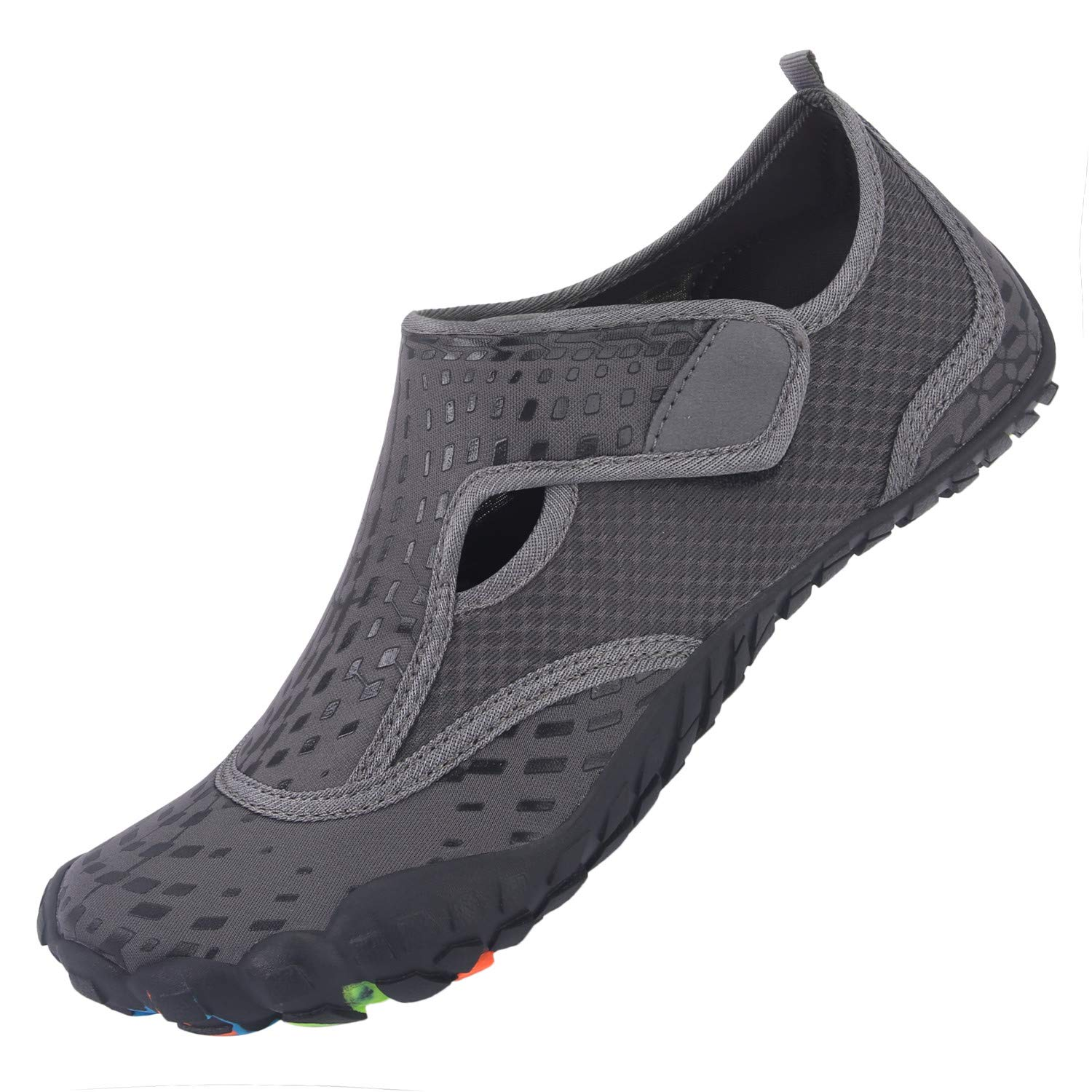 L-RUN Water Shoes for Beach Pool Swim Surf Diving Grey