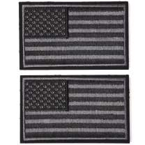 AXEN American Flag US United States of America Military Uniform Emblem Patches 2 Pack, Embroidered Morale Patches Tactical Funny for Hat Backpack Jackets (Applique Fastener Hook - Loop)