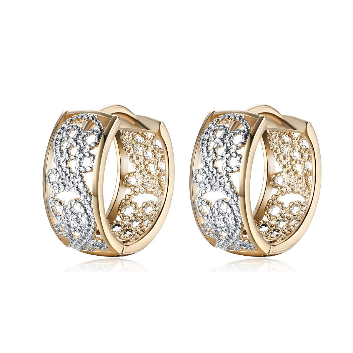 GW Fashion Hollow Ear Studs Lady Ear Cuff Lady Ear Hoops Earrings Piercings Earrings for Women