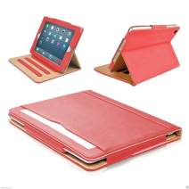 New S-Tech iPad Pro 11 2018 Model Soft Leather Wallet Smart Cover with Magnetic Auto Sleep/Wake Feature Flip Wallet Case (Red)