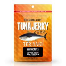 Kaimana Wild-Caught Ahi Tuna Jerky - Teriyaki | Rich in Omega-3s & High in Protein | All-Natural & Organic Fish Jerky (2 oz)