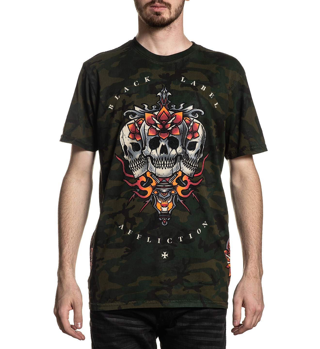Affliction Men's Graphic T-Shirt, Wrecking Crew Variant, Short Sleeve Crew Neck Shirt