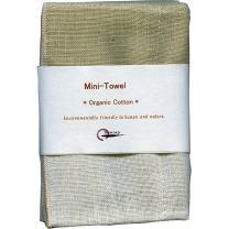 Nawrap 100% Organic Cotton, Mini/Baby Towel, Brown/Ivory
