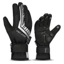 Winter Ski Gloves Men Women-Windproof Waterproof Warm Touch Screen for Outdoor Sport