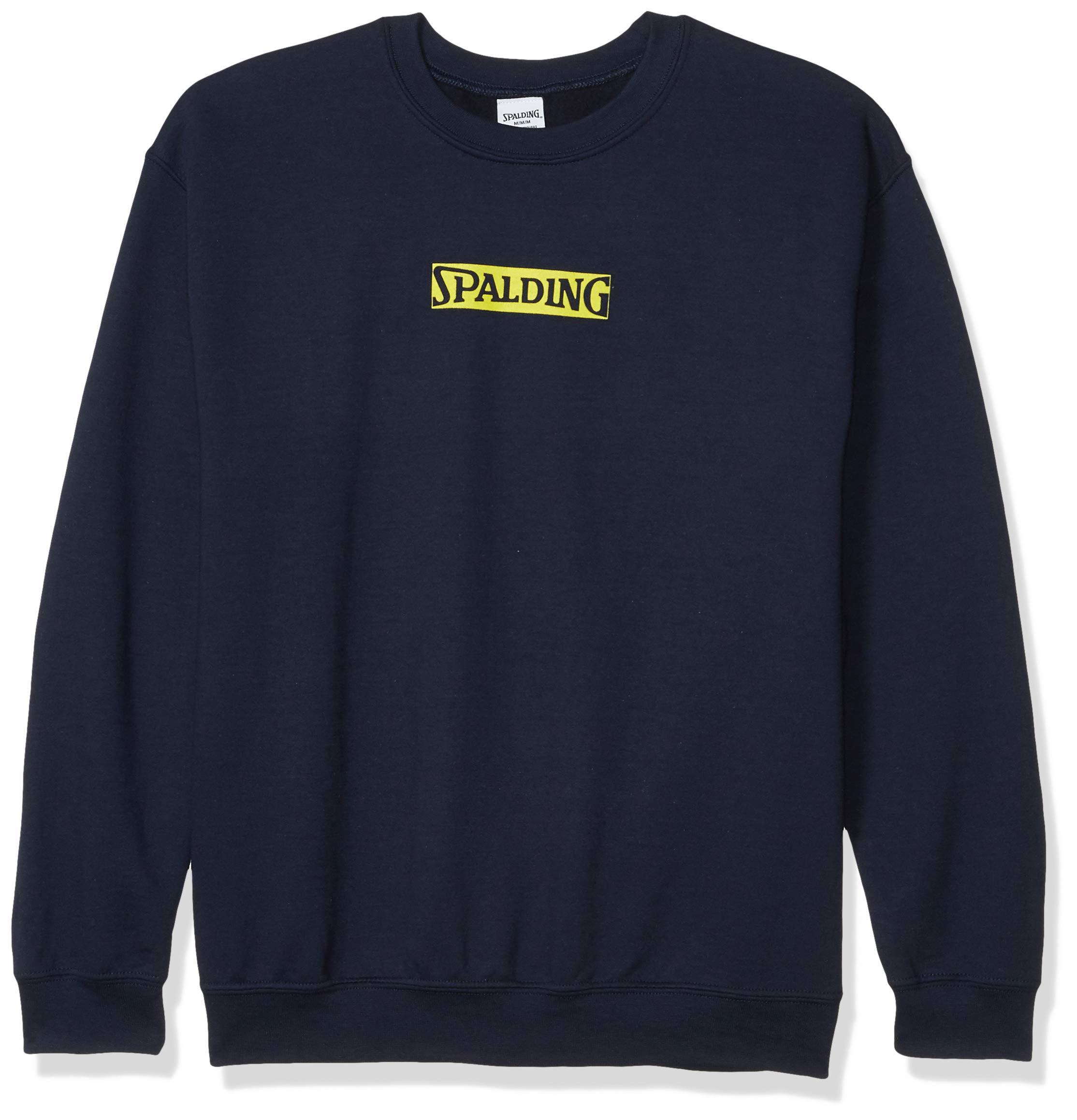 Spalding Men's Brand Logo Crew Neck Cotton Fleece Sweatshirt