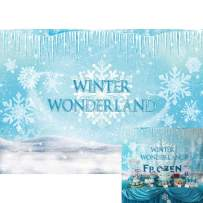 Allenjoy Winter Wonderland Frozen Ice Backdrop Pictures Photography Kids Princess Fairytale 1st Birthday Party Decoration Christmas Baby Shower Newborn Photo Booth Props 7x5ft Photoshoot Background